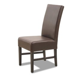 Black Ridge - Dining Chair - White Leather