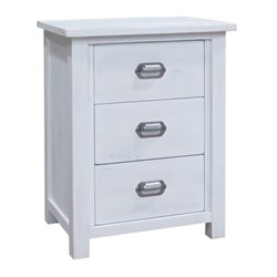 Abby 3 Drawer Bedside Table