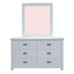 Abby 6 Drawer Dresser and Mirror