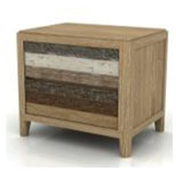 Bahamas - Bedside Table, 2 Drawer - Shade Of Grey