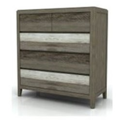 Bahamas 5 Drawer Tallboy - Shade Of Grey