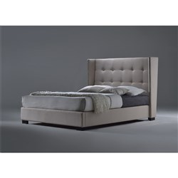 Bettino King Bed - Grey