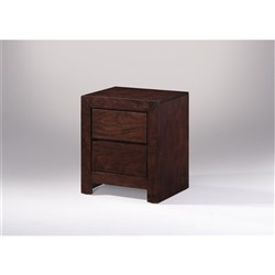 Conner 2 Drawer Bedside Table - Chocolate