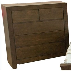 Conner 5 Drawer Tallboy - Chocolate