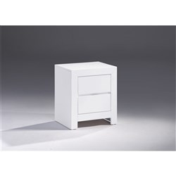 Conner 2 Drawer Bedside Table - White