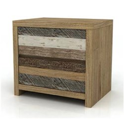 Crusoe 2 Drawer Bedside Table