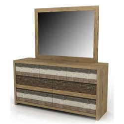 Crusoe 7 Drawer Dresser and Mirror