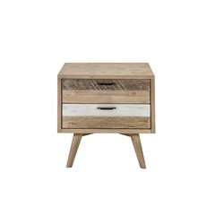 Cuban 2 Drawer Bedside Table