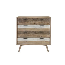 Cuban 4 Drawer Tallboy