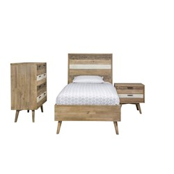 Cuban Single Tallboy Bedroom Suite