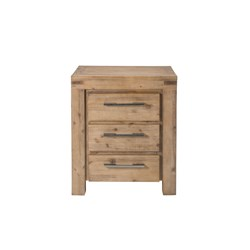 Emerson 3 Drawer Bedside Table