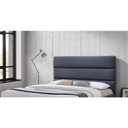 EMILY UPHOLS KING HEADBOARD LINEN CHARCOAL M801 9046KB