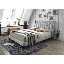 EVA KING BED (UPHOLSTER) SUNDAY FAB GREY 32/LT GREY 39 (5327L) (2040x2020x1245)