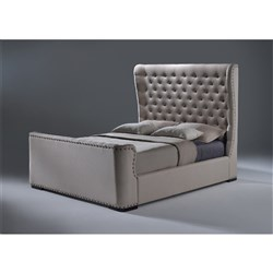 Grande King Bed - Light Beige