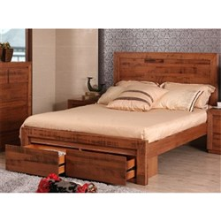 Hastings King Bed with 2 Drawers