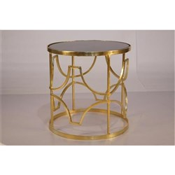 Hayley Brass Bedside Table