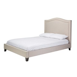Hilton Double Bed - Light Beige