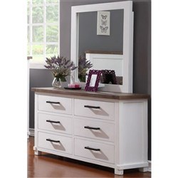 Maryland 6 Drawer Dresser and Mirror