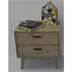 Torrey 2 Drawer Bedside Table