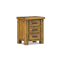 Woolshed 3 Drawer Bedside Table
