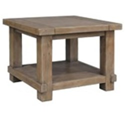 Canyonleigh - Lamp Table - Recycled Pine/Weathered Grey