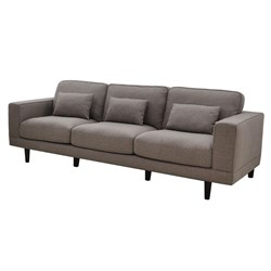 Bassett - 3 Seater (with 3 Scatter Cushions) - Empire Fabric/Cloud