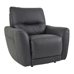Camellia - Recliner (with Piping) - Thick Leather/Black