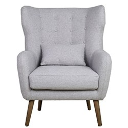 Charlie Arm Chair - Silver