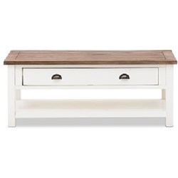 BRIGHT COFFEE TABLE*1200 ACACIA/WHITE & BRUSH DIS BROWN BRIGHT L06A (1200X700X420)