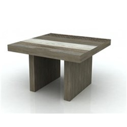 Creston - Lamp Table - Acacia/ Shade of Grey