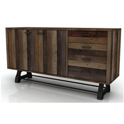 Distillery - Buffet, 4 Drawer, 2 Door - Recycled Pine/Drift