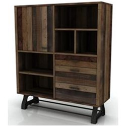 Distillery - Highboard, 3 Drawer, 1 Door - Recycled Pine/Drift