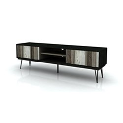 Havana - Entertainment Unit, 2 Drawer, 1 Shelf - Acacia/Shade of Grey