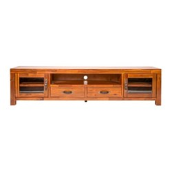King Island 2 Drawer/2 Door/1 Shelf Entertainment Unit (Large)
