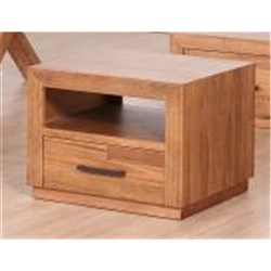 MAINRIDGE 1D LAMP TABLE 650SQ TASMANIA OAK/NATURAL FINISH (X1712) (650X650X500)