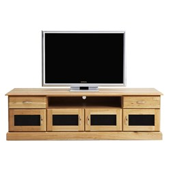 Nullabor - Entertainment Unit, 2 Drawer, 4 Door - Chestnut/Natural Finish