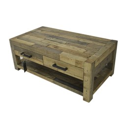 Outback - Coffee Table, 4 Drawer - Pine/Aged Pine