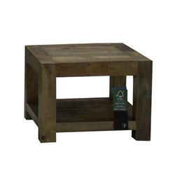 Outback - Lamp Table, 1 Shelf - Recycled Pine/Aged Pine