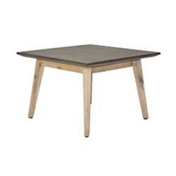 SLIMLINE LONG LAMP TABLE*700SQ ACACIA/CONCRETE-SNDBLST/D.GREY (80933) 700X700X450