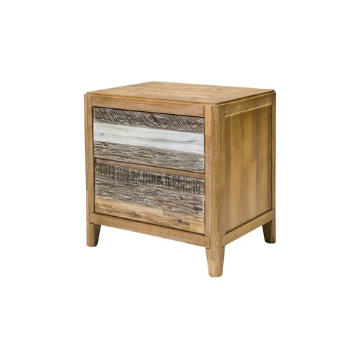 Bahamas 2 Drawer Bedside Table - Cosmo