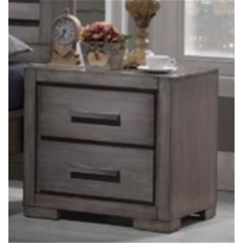 Blaise 2 Drawer Bedside Table (Small)