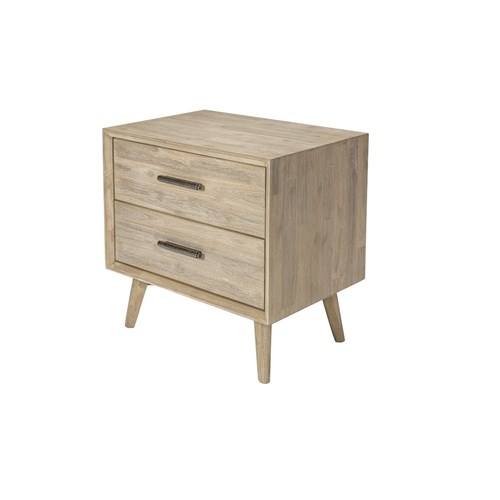 Chicago II 2 Drawer Bedside Table