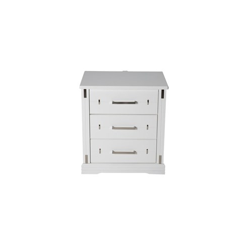 Eliza 3 Drawer Bedside Table