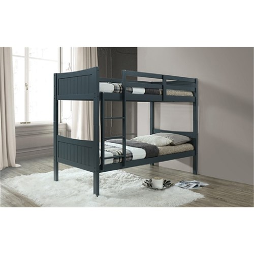 OWEN BUNK BED HARDWOOD&MDF/GREY 501 (3386-17) (2000X1050X1715)
