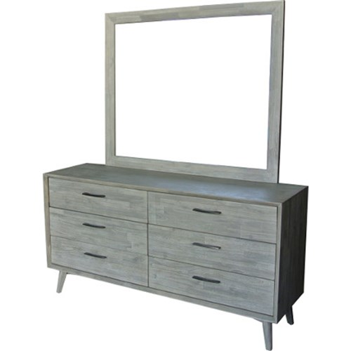 Seattle 6 Drawer Dresser and Mirror