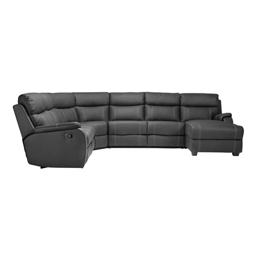 Porter 6S Modular w Sofa Bed and Chaise - Onyx