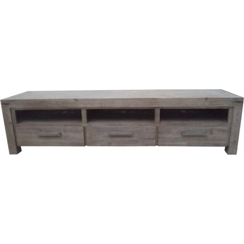 Emerson - Entertainment Unit, 3 Drawer - Acacia/Moka Finish