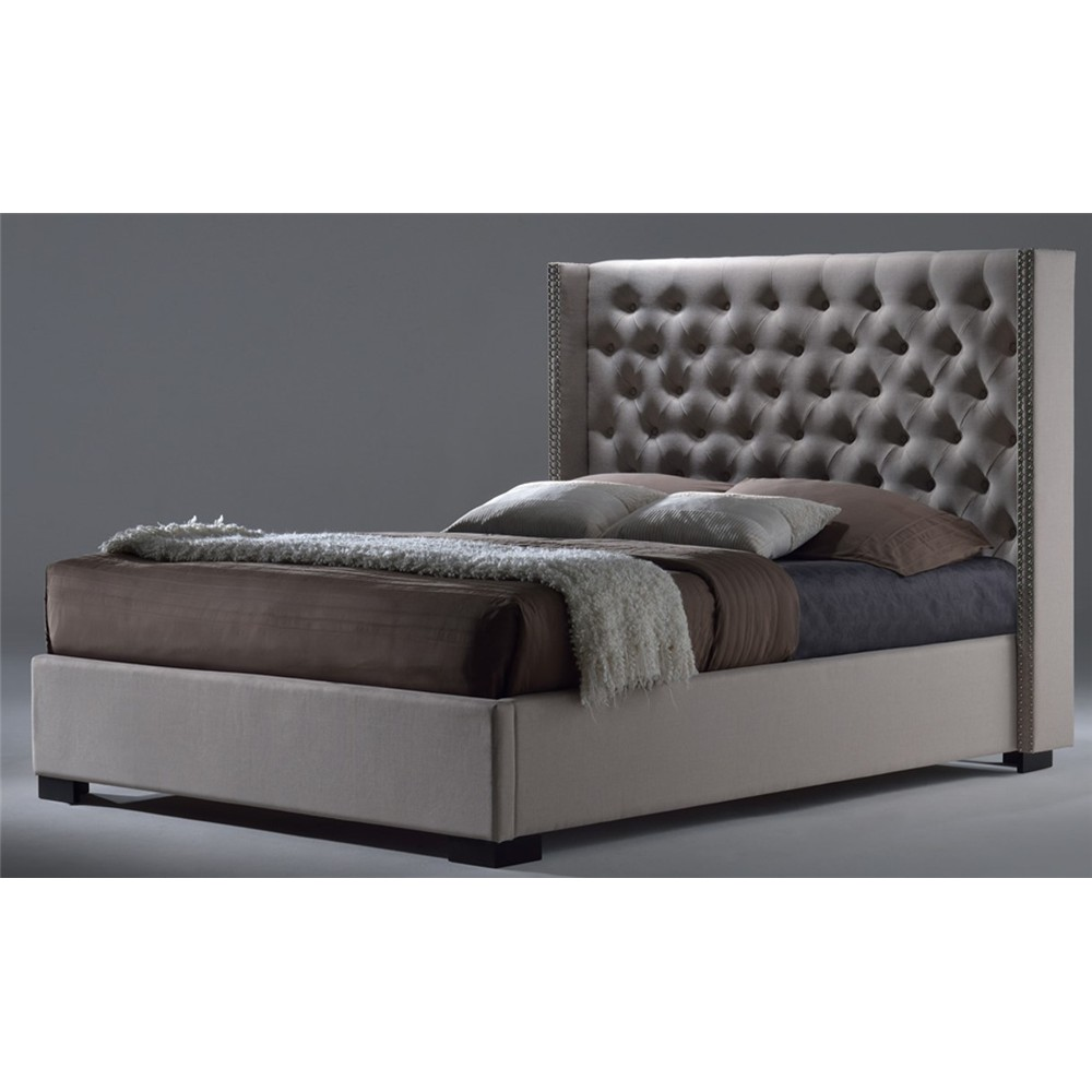 Toulouse King Bed Leather Snow White Bbt6368 A2
